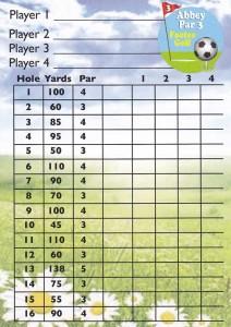 Abbey Par 3 - Footee Score Card